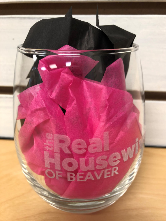 Real Housewives of Beaver Wine Glass