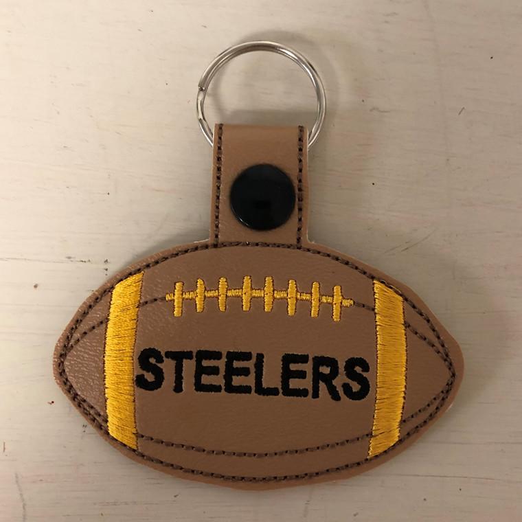 Steelers football keychain
