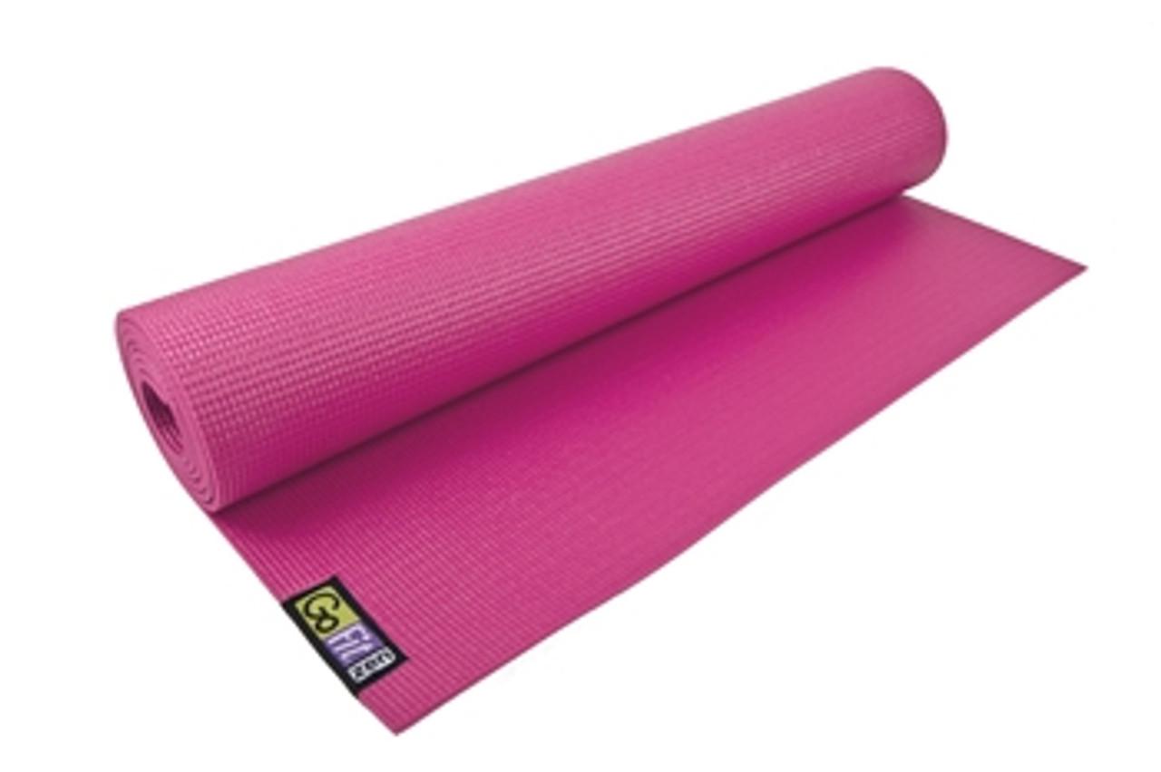 Gofit Yoga Mat With Yoga Pose Wall Chart Pink
