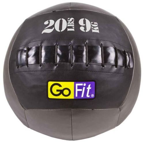 "GoFit 14"" Crossfit-style Wall Ball Vinyl Medicine Ball- 20lbs"