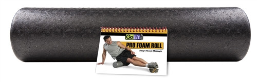 """GoFit Pro Foam Roller with Training Manual 24"""" x 6"""""""
