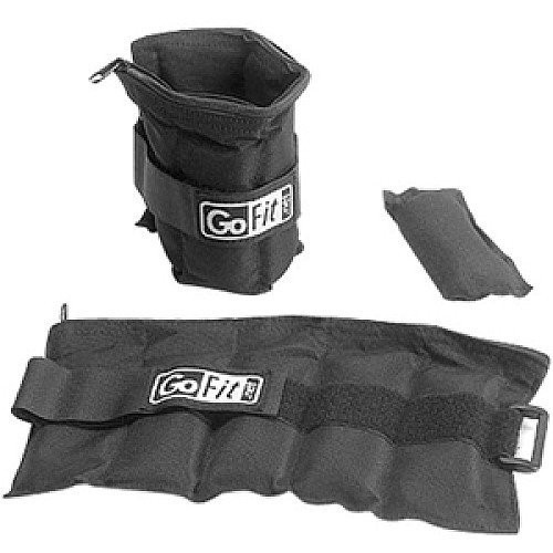 GoFit Ankle Weights Set- 2.5lbs Each / 5 lb Pair