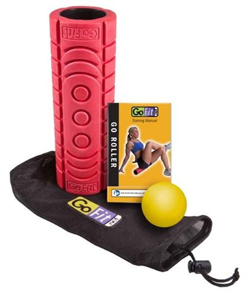 GoFit Go-Roller with Trigger Therapy Ball, Carry Bag & Training Manual
