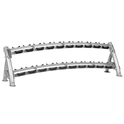 Hoist CF 3461-2 Commercial (2) Tier Horizontal Dumbbell Rack