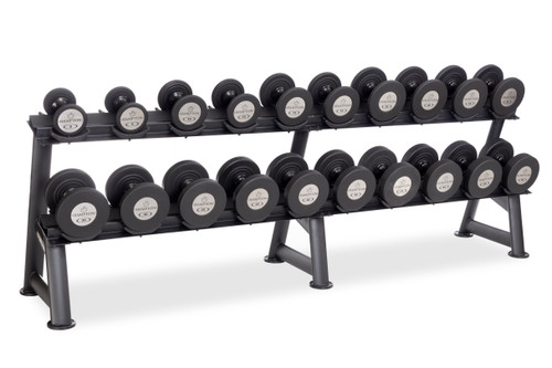 Set Includes 10 pr Dumbbells (5-50 In 5 lb Increments) 2T-SDL-10 rack not included