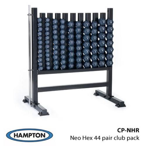 Hampton Neo-Hex Neoprene Coated Cast Iron 44 Pair Club Pack Set