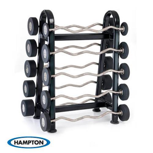 Hampton Urethane Curl & Straight Bars Barbell Club Pack Set