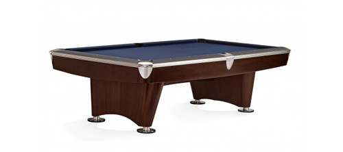 Brunswick 8 ft. Gold Crown VI Pool Table Shown in Skyline Walnut/Espresso with Nickel Trim
