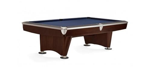 Brunswick 8 ft. Gold Crown VI Pool Table Shown in Skyline Walnut/Espresso with Nickel Trim