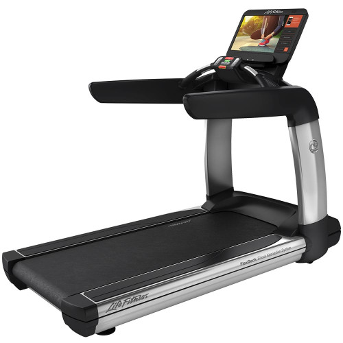 Life Fitness Platinum Club Series Treadmill with Discover SE3 HD Console in Artic Silver