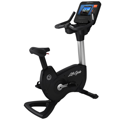 Life Fitness Platinum Club Series Upright Bike with Discover SE3 HD Console - ARTIC SILVER