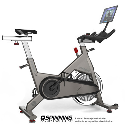 Spinner® P3 - SPIN® Bike shown with Optional Tablet/Media Mount