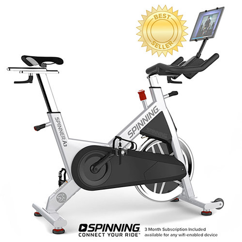Spinning Spinner® A3 Spin Bike with Optional Deluxe Media Mount