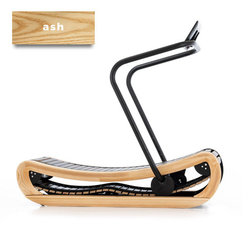 NOHrD SprintBok Curved Manual Treadmill in ASH
