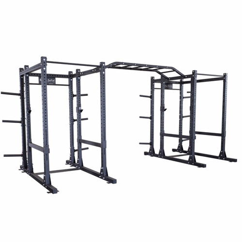 Body-solid SPR1000DBBACK Commercial Extended Double Power Rack Package