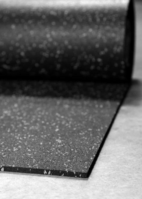 Ultimate-Tough™ Rubber Flooring Rolls - Black/Grey 10%