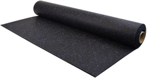 Ultimate-Tough™ Rubber Flooring Rolls - Black/Blue 10%