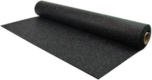Ultimate-Tough™ Rubber Flooring Rolls - Black/Green 10%