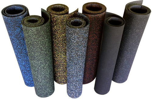 Ultimate-Tough™ Rubber Flooring Roll - Black/Red 10%