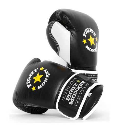 Fight Monkey Professional Series 12 oz Leather Boxing Gloves (FM-3848)