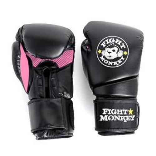 Fight Monkey 12 oz Training Boxing Gloves - Pink