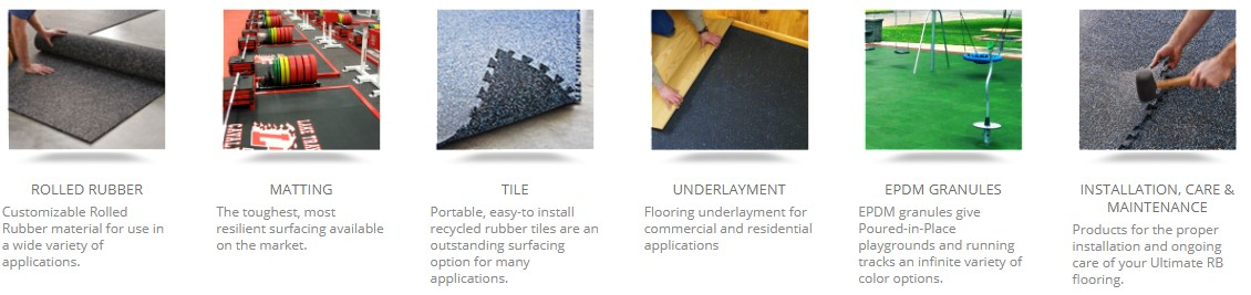 Gym Flooring Fitness Equipment Interlocking Tile Rolled Rubber Turf Mat Matting Underlayment