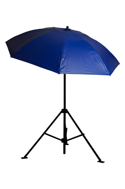 7' Blue Vinyl Heavy Duty Umbrella