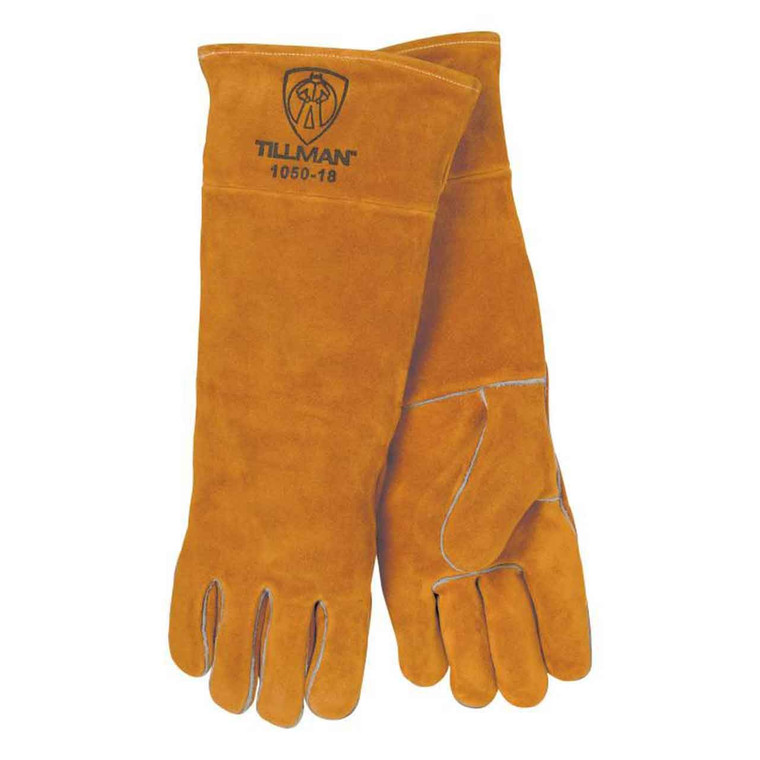 "Tillman 1050 18"" Premium Side Split Cowhide Welding Gloves, Large"