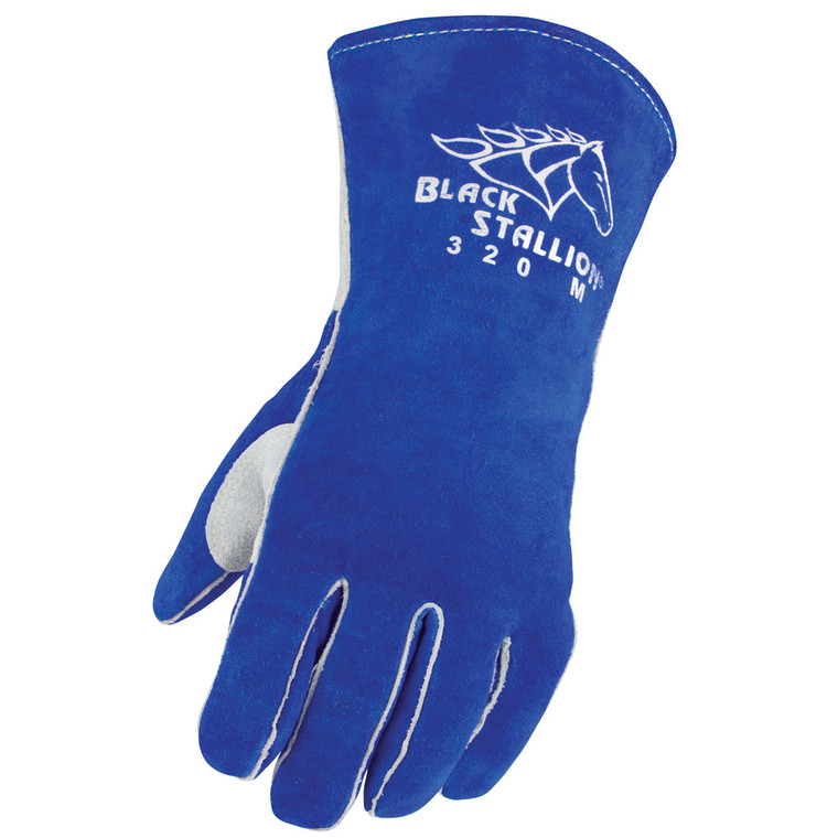 Side Split Cowhide Stick Glove with CushionCore™ Liner
