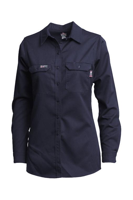 7oz. Ladies Navy  FR Uniform Shirts | Advanced Comfort 88/12
