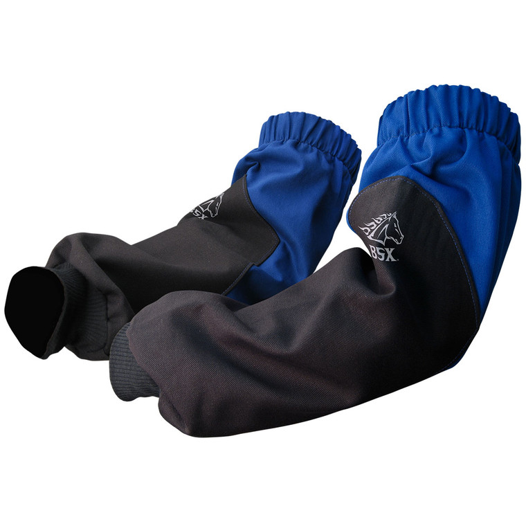FR Cotton Sleeves Black with Blue