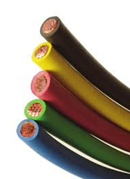 25 Foot Colored Flex-A-Prene Welding Cable