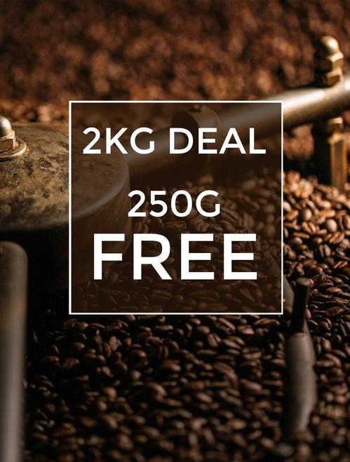 2KG Coffee 250g FREE