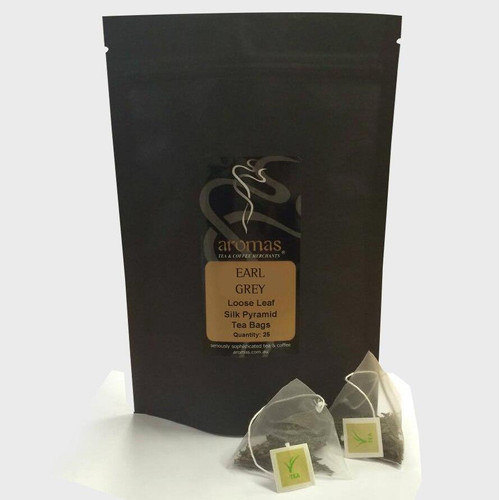 Silk Pyramid Tea - EARL GREY 25 Bags