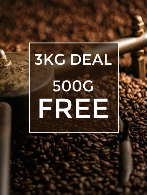 3KG Coffee 500g FREE