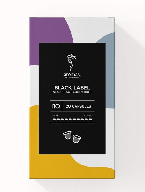 Aromas Black Label Nespresso Machine Compatible Coffee Capsules