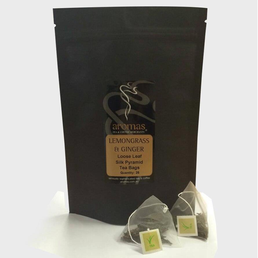 Silk Pyramid Tea - Lemongrass and Ginger 25 Bags