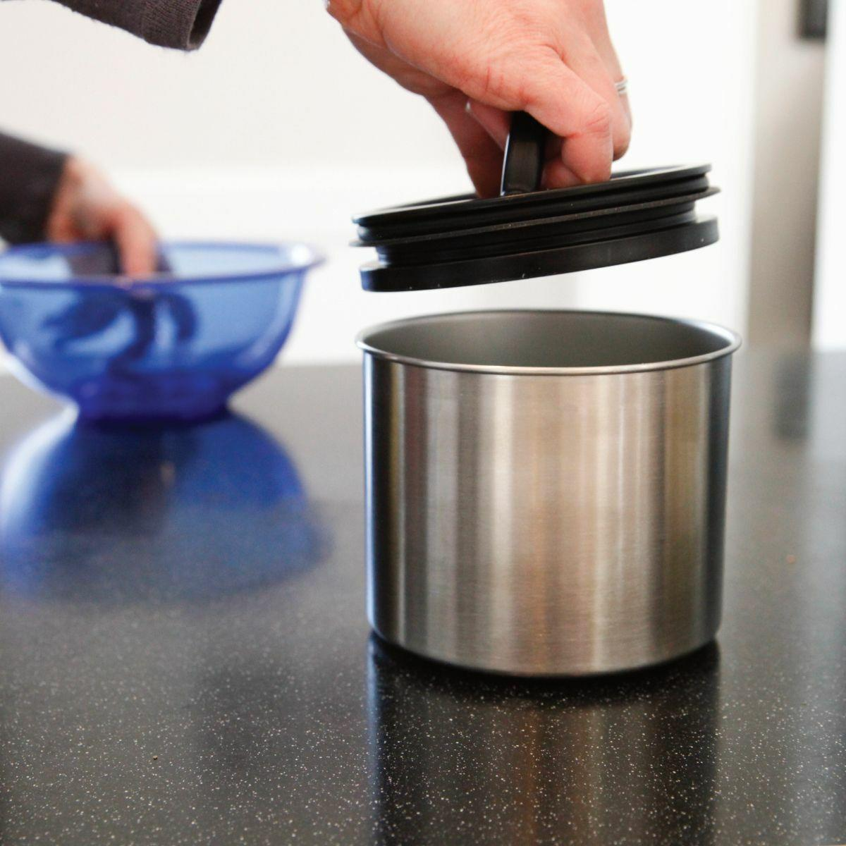 Airscape Classic 7 Coffee Canister - Brushed Silver