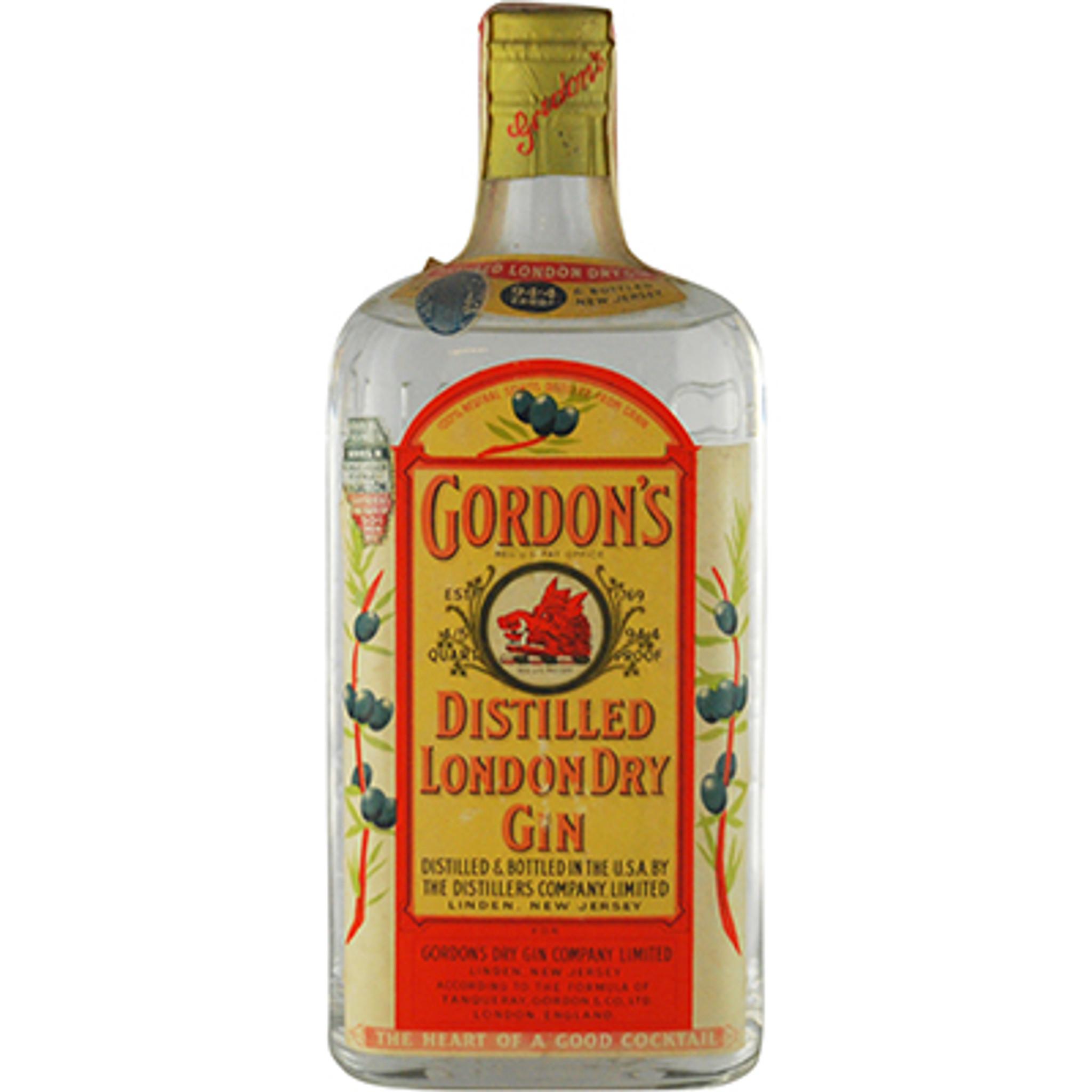 Nye Gordon's Distilled London Dry Gin 94.4 Proof 1930's Bottling HM-07