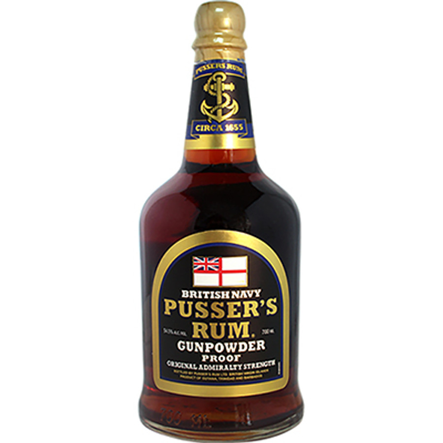"Pusser's British Navy Rum ""Gun Powder Proof"" Original Admiralty Strength"