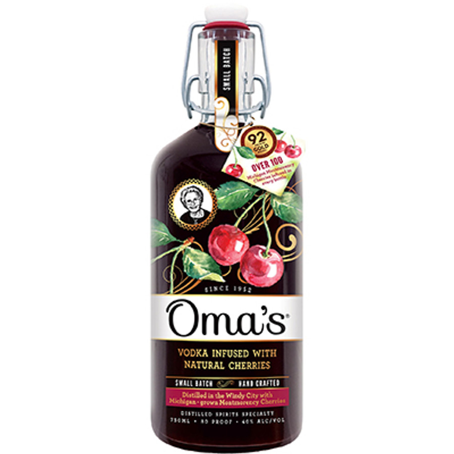 Oma's Vodka Infused With Natural Cherries