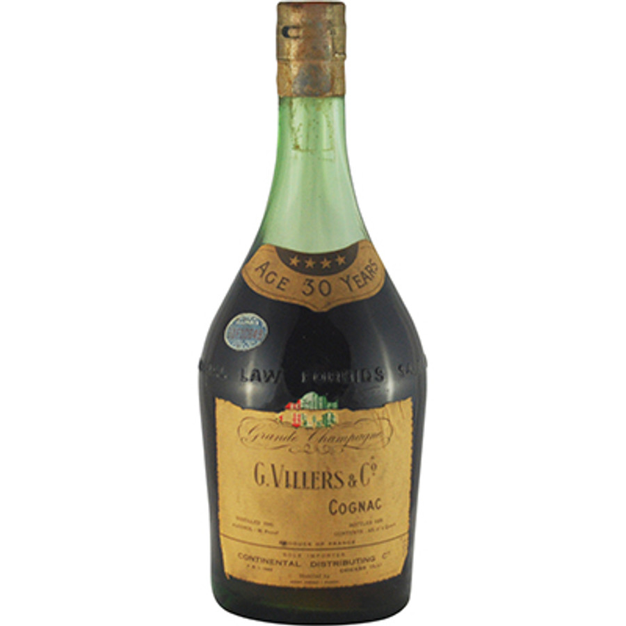 G. Villers & Co Grande Champagne Cognac 30 Years Old Distilled 1905 Bottled 1935