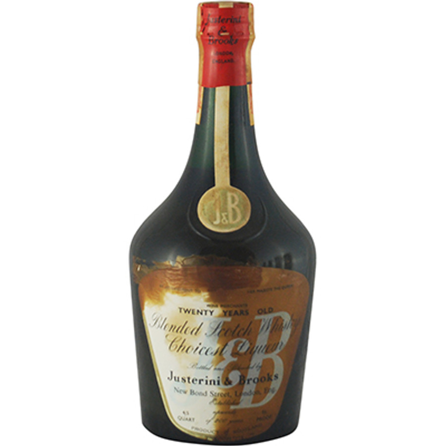 "Justerini & Brooks ""J & B"" 20 Years Old Blended Scotch Whisky 1950s Bottling"
