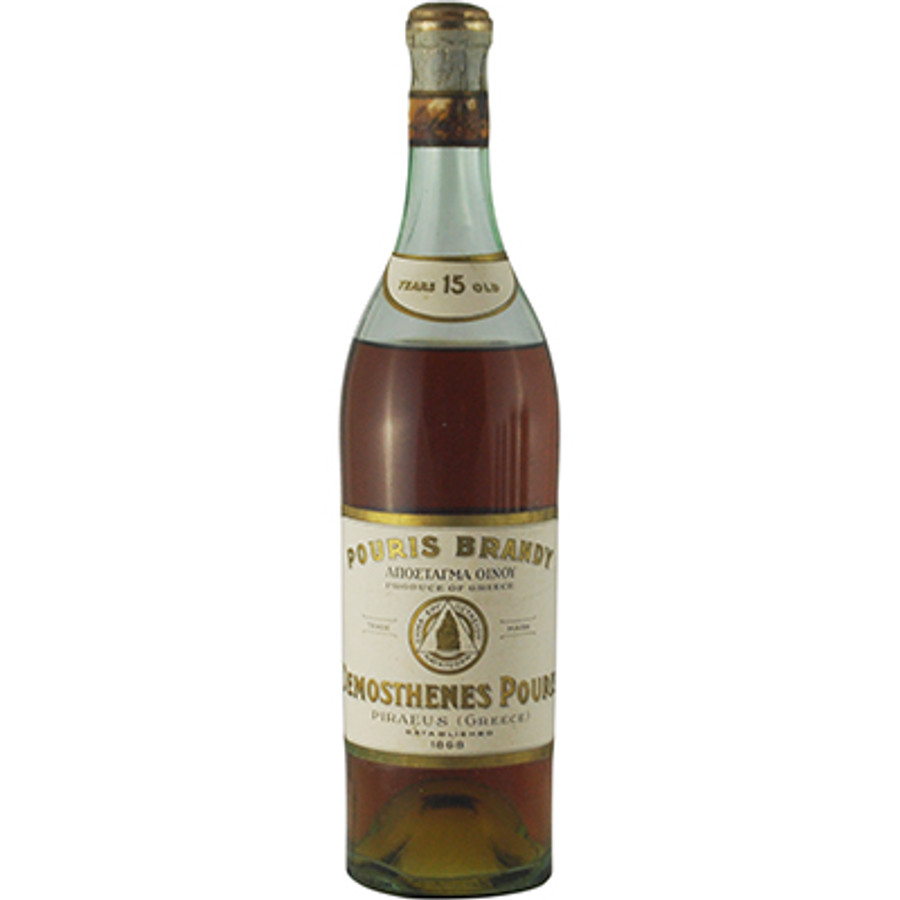Demosthenes Pouris Brandy 15 Years Old, Distilled 1919