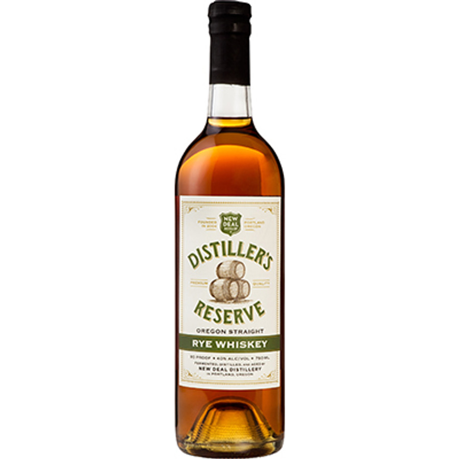 "New Deal Distillery ""Distiller's Reserve"" Oregon Straight Rye Whiskey"