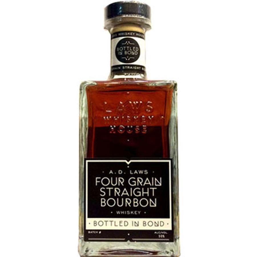 AD Laws Four Grain Straight Bourbon Bottled In Bond 100 Proof