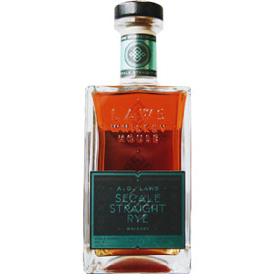 AD Laws Secale Straight Rye Whiskey Aged 3 Years 100 Proof