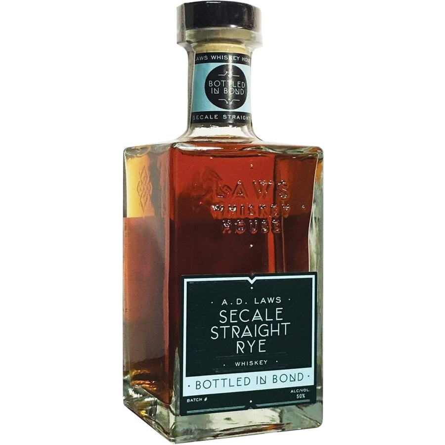 AD Laws Secale Straight Rye Whiskey Bottled In Bond 100 Proof