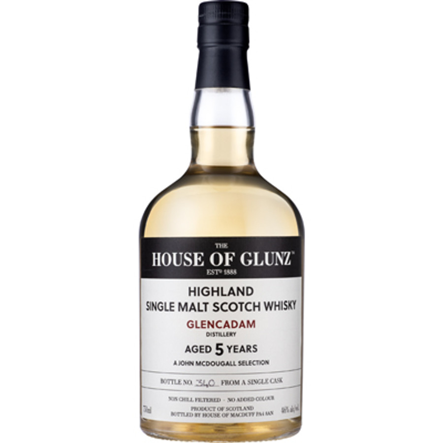 House of Glunz Glencadam Single Malt Scotch Whisky 5 Years Old
