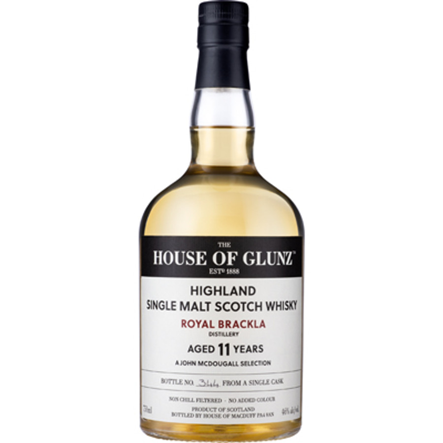 House of Glunz Royal Brackla Single Malt Scotch Whisky 11 Years Old